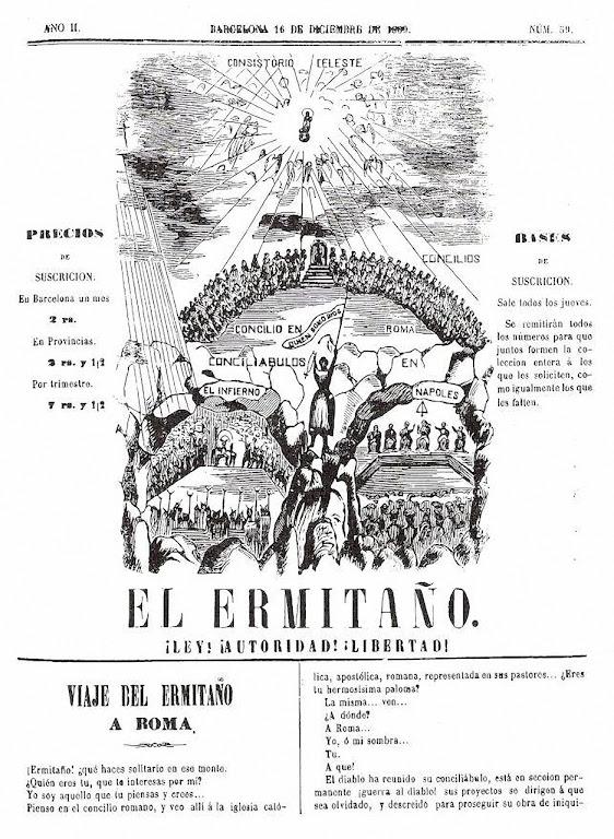 'El Ermitaño' foi o jornal do Beato nos últimos anos de vida. Na foto o nº 59
