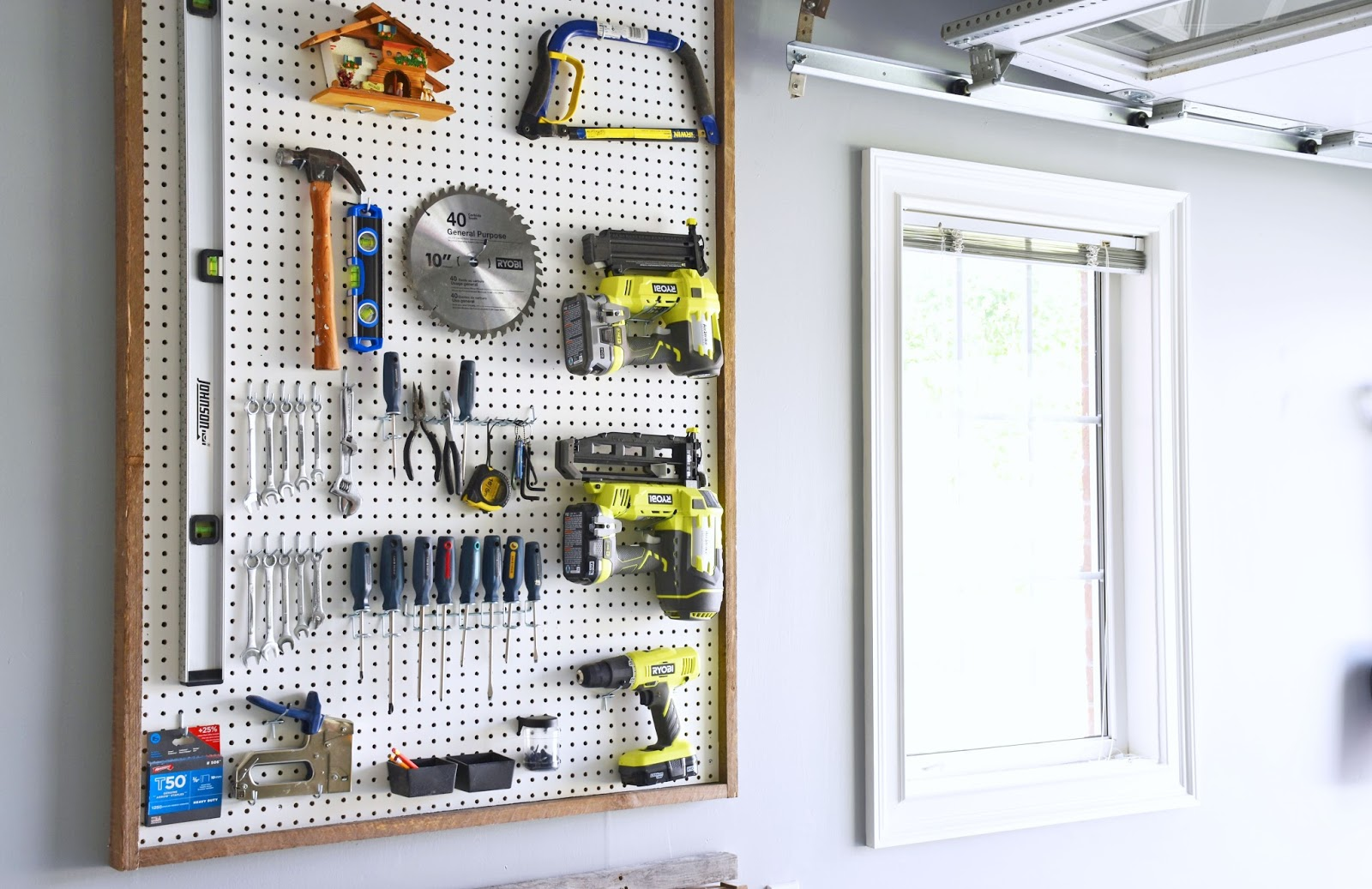 art pegboard in of organization garage real organizer woman everyday workbench peg board the folding tool diy life