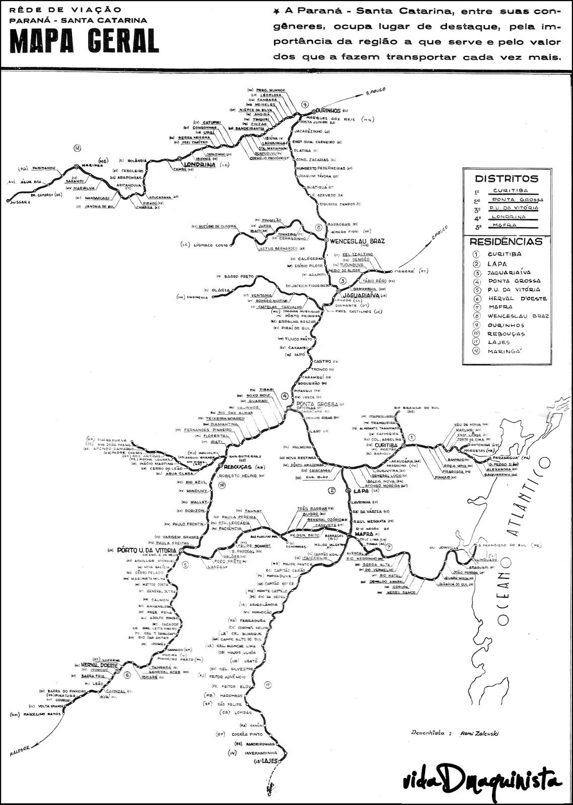 Vidadmaquinista O Mapa Completo De Nossa Ferrovia Rvpsc