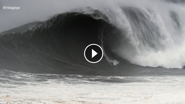 Kai Lenny´s Monster Wave at Nazare Tow Chalenge 2020