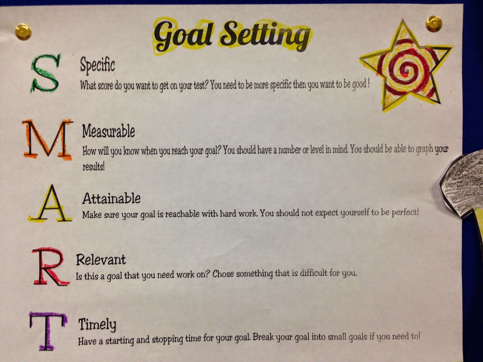 Down The Hall In Room 177 S M A R T Goals For Smart