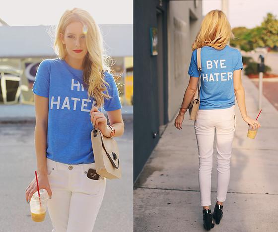 Hi Hater Bye Hater shirt worn by Kristin Ondocsin. PYGear.com