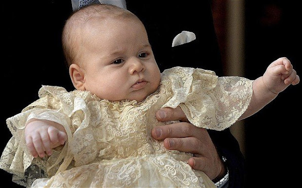 Princess Charlotte will be christened in the same gown that Prince George