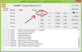 apache webserver xampp control panel