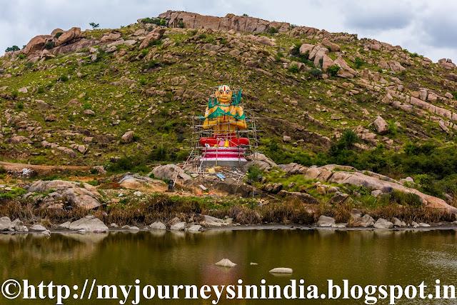 Ramanujacharya statue at Kere Thonnur or Thondanur