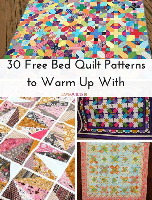 30 Free Bed Quilt Patterns By FaveQuilts