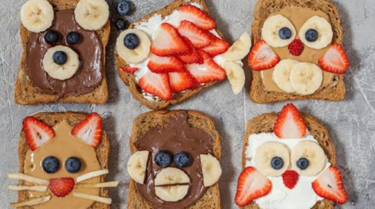 FUNNY ANIMAL FACES TOAST TREATS #dessert #cake