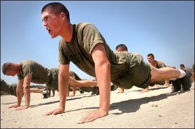 Pompes à l'armée