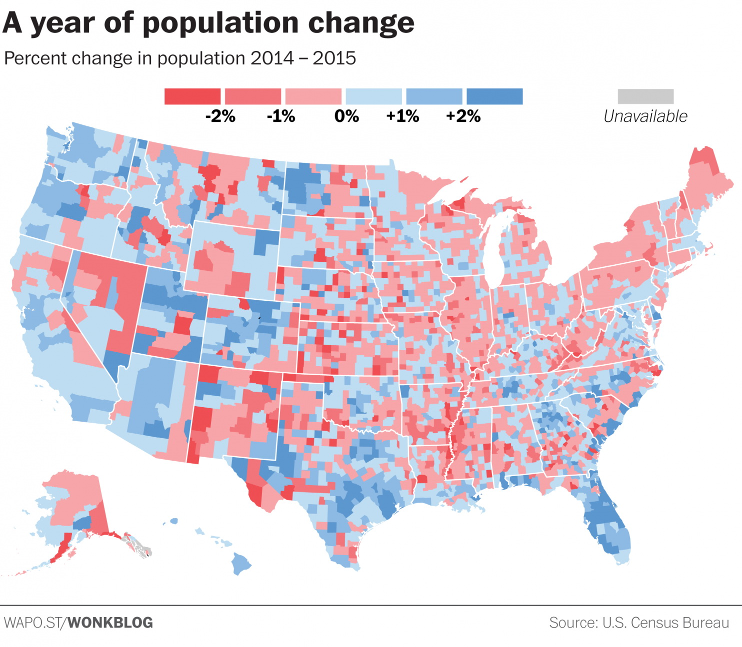 A year of population change
