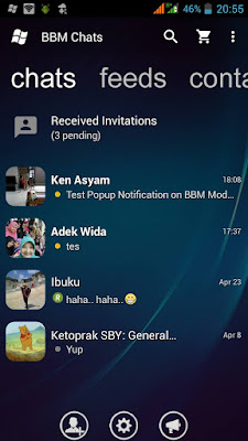Download BBM Mod Windows Phone Transparan V2.13.1.14 Apk New Update
