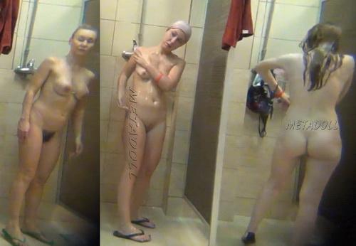 Swimming Pool Shower 145-155 (Public Shower Room Spy Cam)