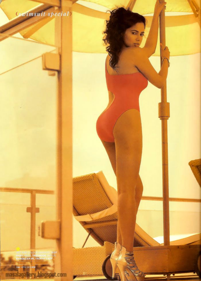 Sameera Reddy Hot Swimsuit Picture - Masala Gallery
