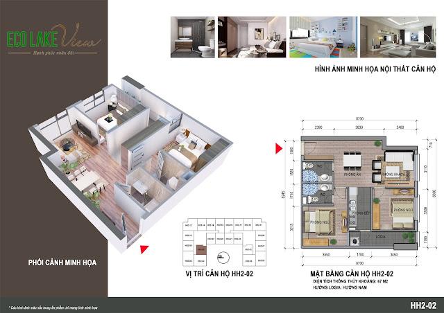 Thiết kế căn hộ 02 tòa HH-02 Eco Lake View