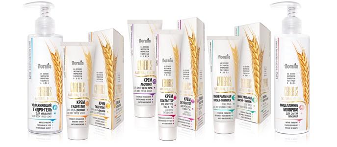 Floralis. Косметика Cereals Natural Elixir: уход за кожей лица