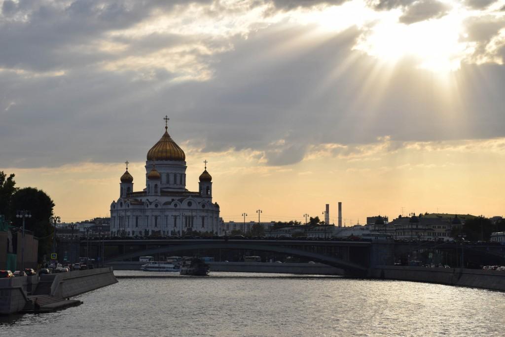 Catedral de Cristo Salvador, vista do Rio Moskva – Moscou