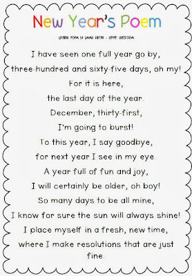 New Year's Poem Freebie and Printables - Clever Classroom Blog