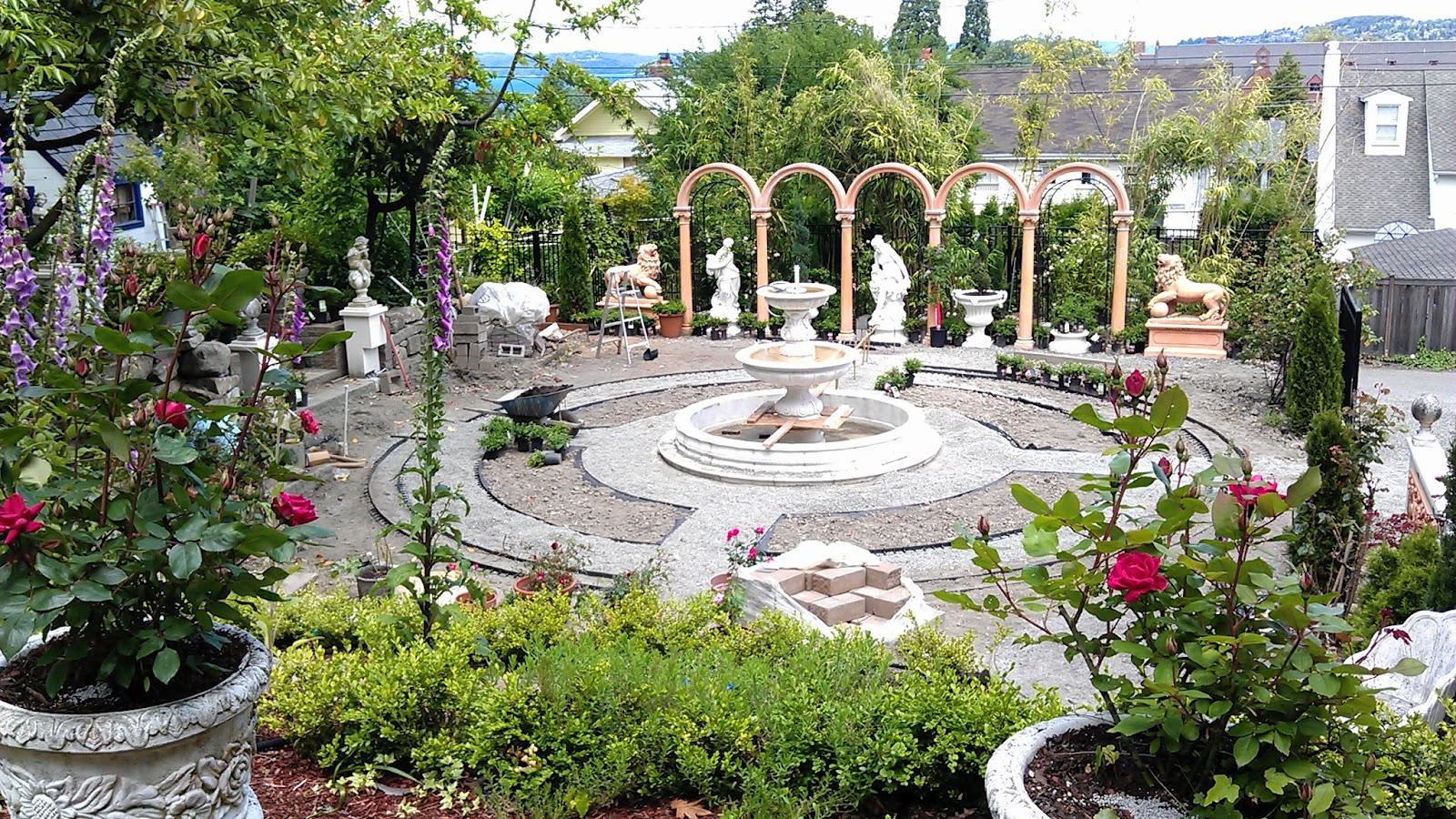 An Italian Garden Under Construction