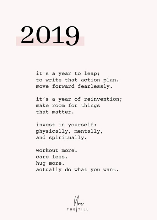 2019 - new year words of encouragement quote self care love