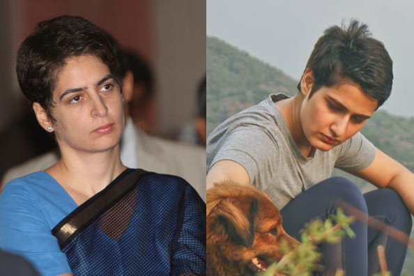 priyanka gandhi and fatima sana sheikh, priyanka gandhi look alike, fatima sana shiekh look alike