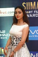 Actress Pooja Salvi Stills in White Dress at SIIMA Short Film Awards 2017 .COM 0010.JPG