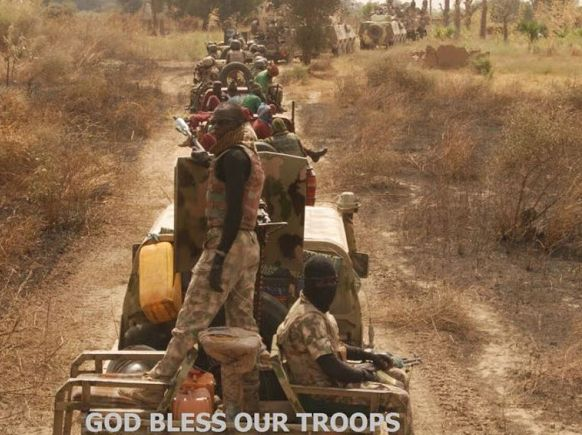 Gallant Nigerian Soldiers Going Deeper Into Sambisa Forest