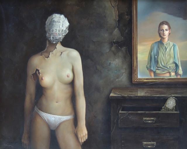 Alberto Pancorbo arte moderno hiperrealista surrealista desnudo el tiempo joventud