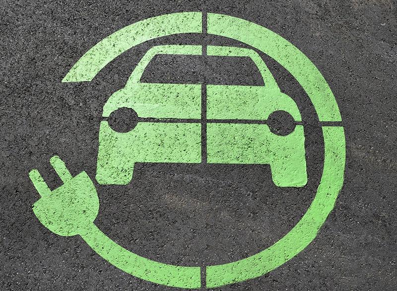 Símbolo carro elétrico