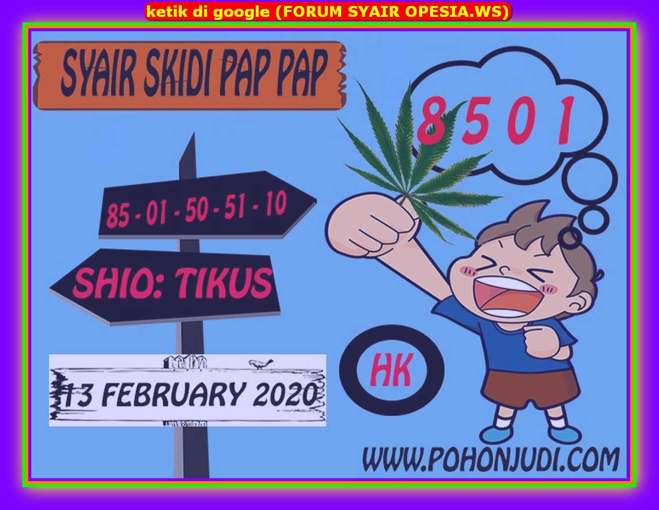 Kode syair Hongkong Kamis 13 Februari 2020 141