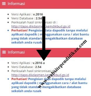 Cara Update Dapodik Versi 2016 ke Versi 2016 A