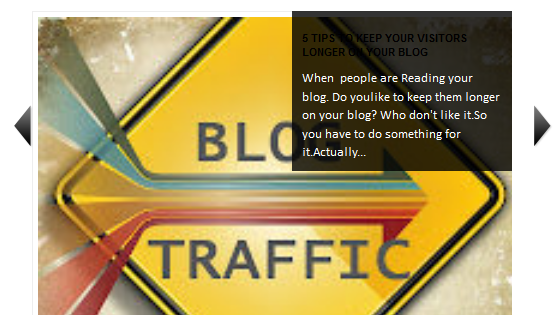 Recent Posts Slider Widget For Blogger