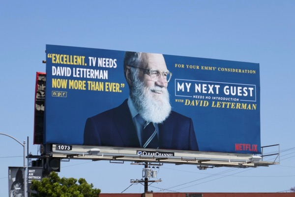 My Next Guest David Letterman 2018 Emmy FYC billboard