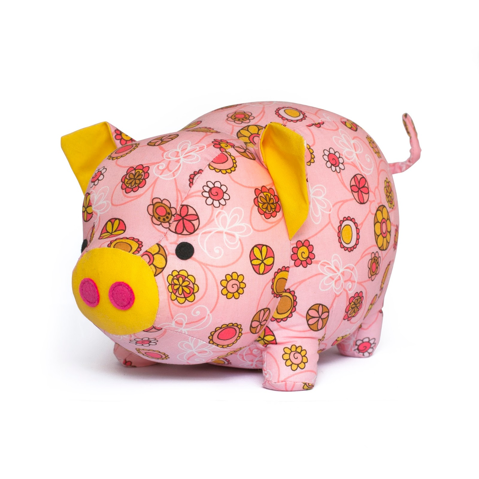 Toy patterns by diy fluffies pig sewing pattern jeuxipadfo Gallery