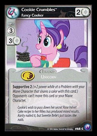 My Little Pony Cookie Crumbles, Fancy Cooker Canterlot Nights CCG Card