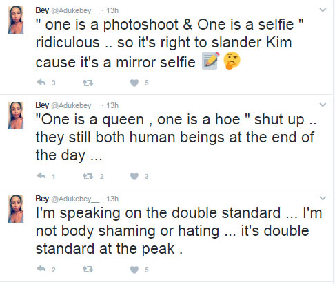 Double standards: People would have slammed Kim K if she posed like Beyonce - Twitter user