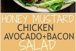 Honey Mustard Chicken Salad With Bacon & Avocado
