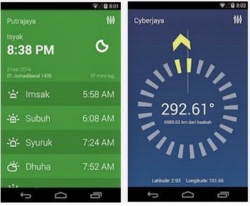 Aplikasi waktu Solat terbaik untuk Android