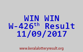 WIN WIN Lottery W 426 Results 11-9-2017