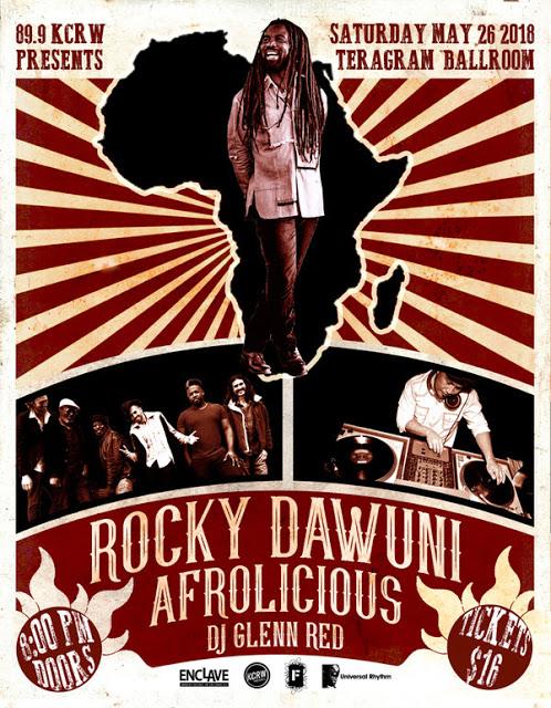 "Rocky Dawuni Premieres New Single ""Burn One"" On Los Angeles' KCRW 89.9 FM"