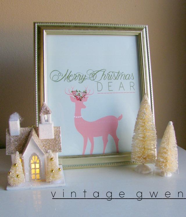 photo regarding Free Holiday Printable identified as Merry Xmas Pricey No cost Holiday vacation Printable