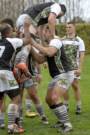 Ben May, Hawke's Bay Magpies rugby team, training at Park Island, Napier. photograph