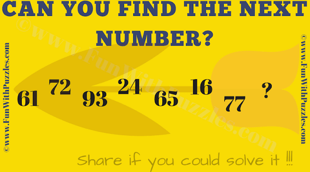 It is Number Series Game Puzzle which will make you think deep.