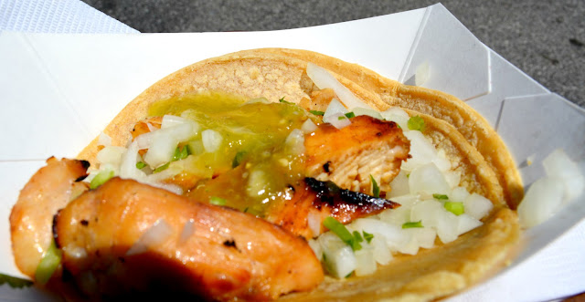 tequila lime chicken taco from carbon at the taste of chicago