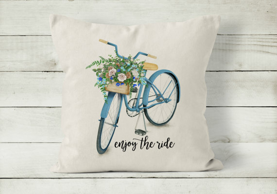 Spring Pillow  Bicycle Pillow Cover