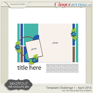 April 2016 - Template Challenge 1 by Seatrout Scraps