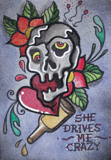"Mixed Media Series - 06 ""She Drives Me Crazy"""