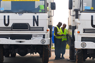 Peacekeeping US Army Africa trucks