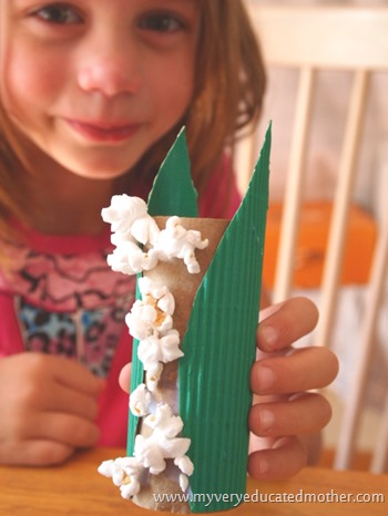 Popcorn Kids Craft using Toilet Paper Rolls