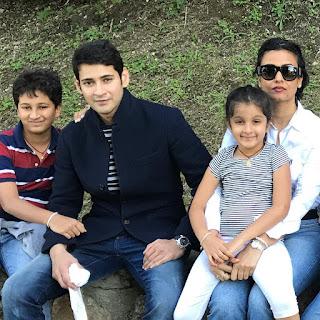 Actor mahesh babu family photos sitara namrata shirodkar gautam