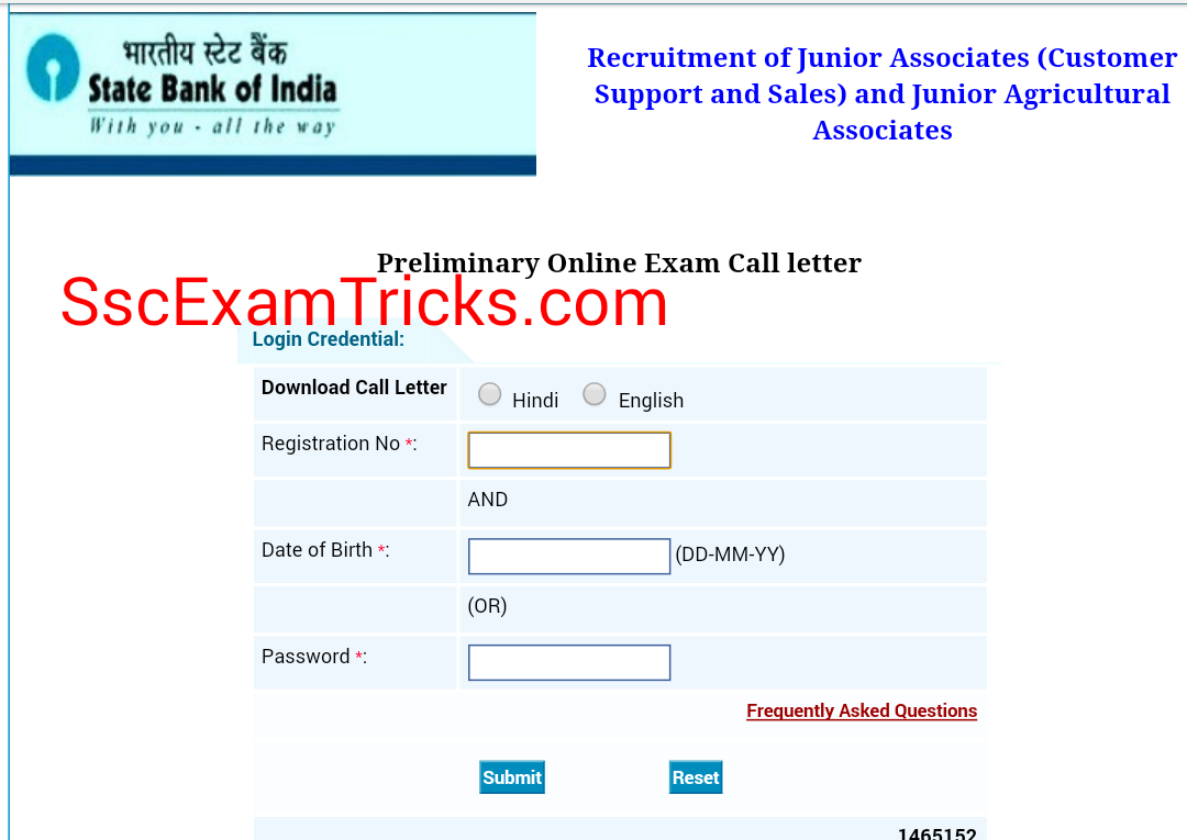 sbi clerk interview call letter sbi co in junior associate sbi clerk admit card 2016 junior associate call letters