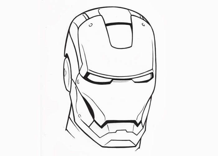 Iron Man face coloring pages | Free Coloring Pages and ...